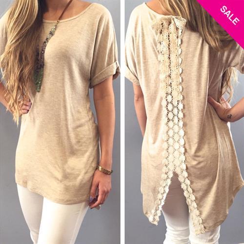 חולצה טוניק דגם מדריד (צבע חאקי)