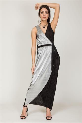 שמלת לוקסור שחור כסף