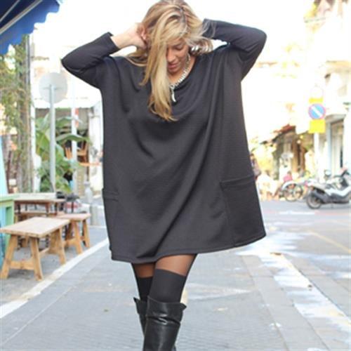 שמלת גארד שחור מעוינים