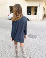 חולצת סריג ג'ייד אפור כהה