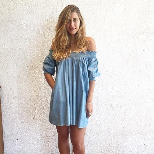שמלה אלבינה ג'ינס