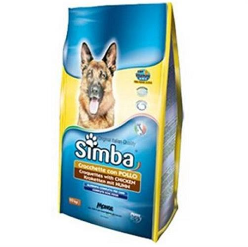 """אוכל לכלבים 20 ק""""ג סימבה פרימיום בשר ועוף"""